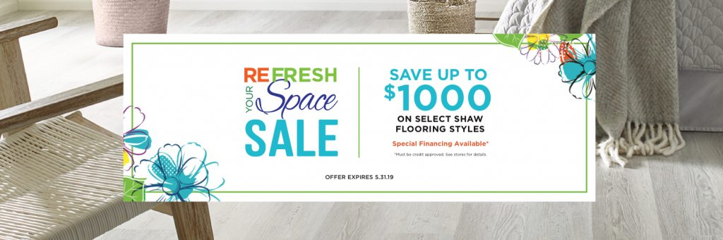 Refresh Your Space Sale coupon | We'll Floor You
