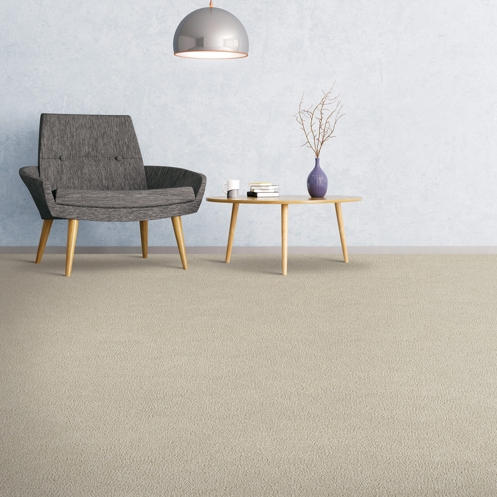Carpet of grey color | We'll Floor You