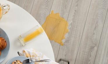 Juice spill on vinyl floor | We'll Floor You