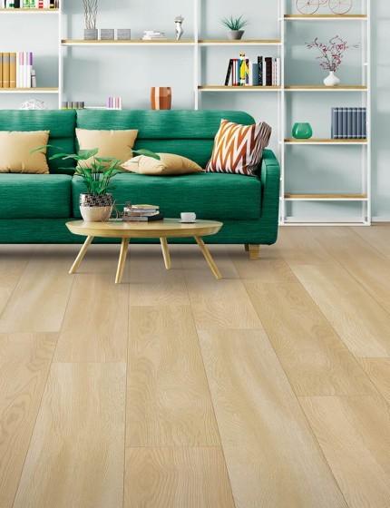 Green sofa on floor | We'll Floor You