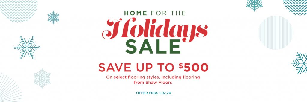 Home for the holidays sale banner | We'll Floor You
