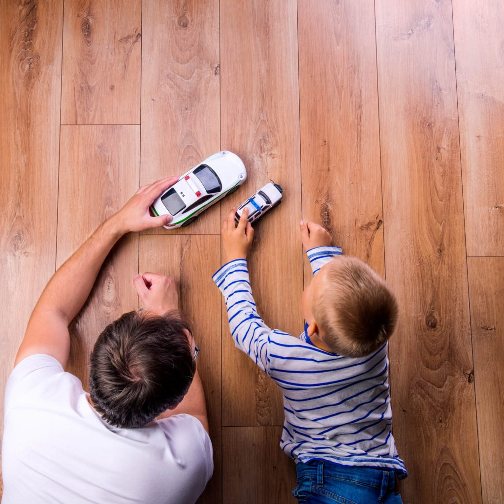 Father and kid playing with toycars | We'll Floor You