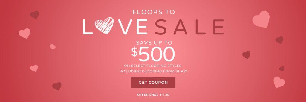 Floors to love sale banner | We'll Floor You