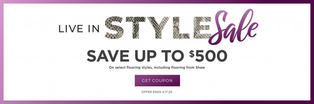Live in style sale banner | We'll Floor You