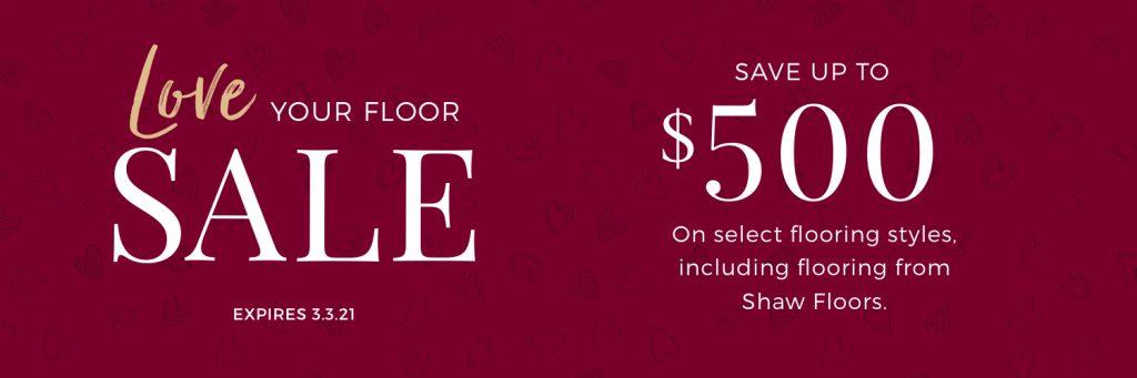 Love Your Floor Sale